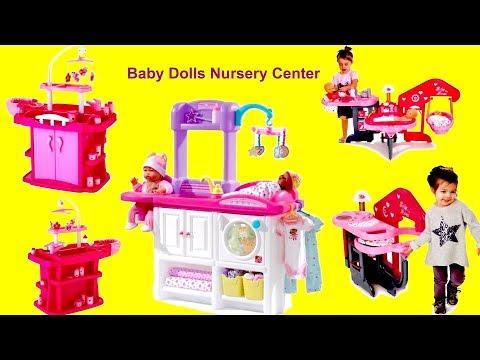 Baby Dolls Nursery Center Set up & Play! Nursery Toys With Baby Born Baby Annabell & Nursery Rhymes