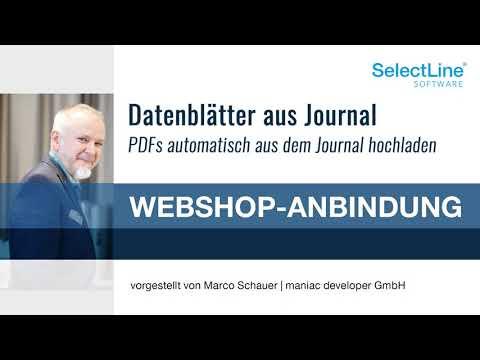 PDFs aus dem SelectLine Journal zum Shopware 5 hochladen