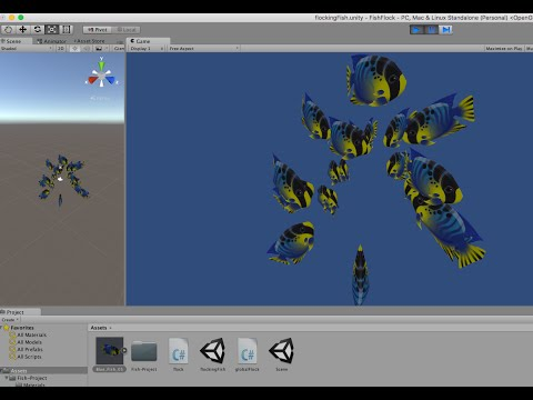 Flocking Fish in Unity 5:  Creating Schooling behaviour with simple AI.
