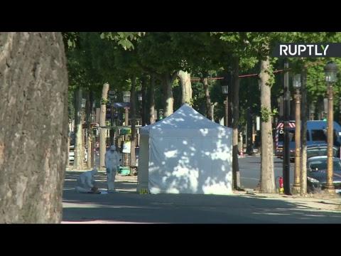 Intervention de police en cours sur les Champs-Elysées à Paris (Direct du 19.06)