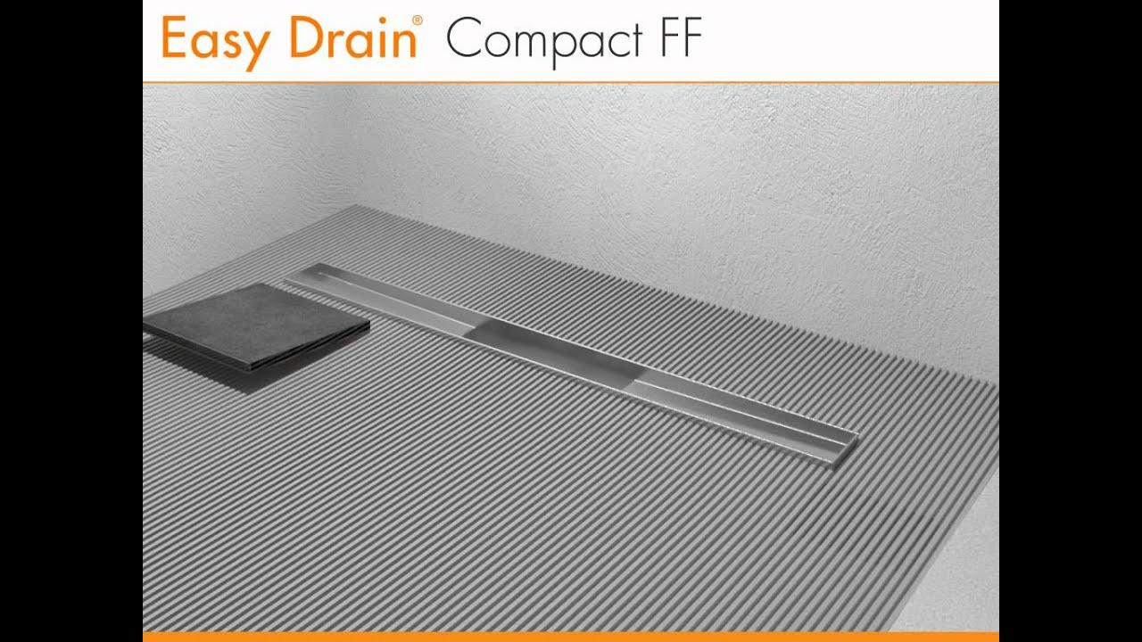 Canalette per doccia a pavimento u easy drain compact ff