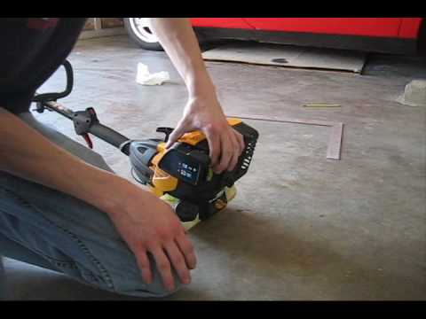 Cub Cadet 4 Stroke Weedeater - YouTube