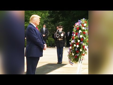 Trump Visibly Struggling to Stand at Memorial Day Event