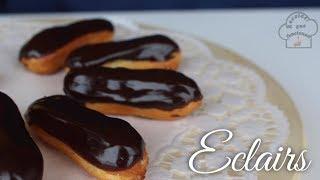 Eclairs  Pastelitos de Crema con Chocolate  Receta que funciona