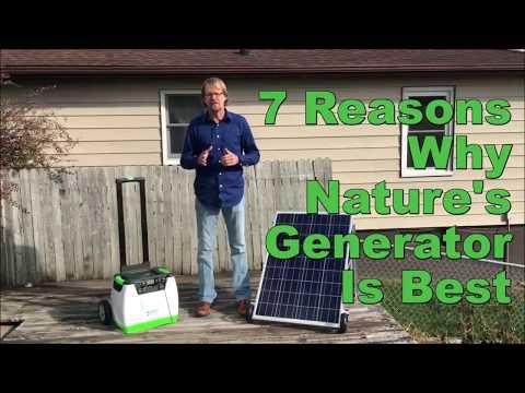 Natures Generator Portable 1800-Watt Solar Generator Overview