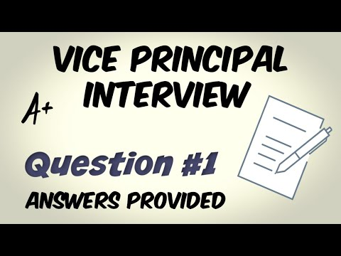 Vice Principal Interview Question 1 of 10 - YouTube