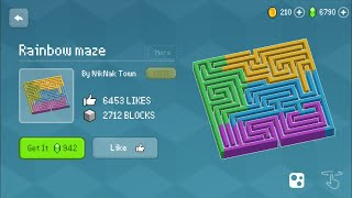 Block Craft 3D : Building Simulator Games For Free Gameplay #524 (iOS & Android) | Rainbow Maze