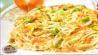 একট ভনন সবদ সহজ নডলস রসপ  Noodles Recipe  Spanish Spicy Toodles   Food Bangla
