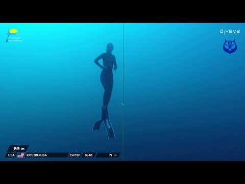 Kristin Kuba Breaks Cwt Bi-Fins USA National Record freediving to 71m/233ft.