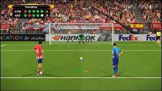 ATLETICO MADRID vs ARSENAL | UEFA Europa League | Penalty Shootout | PES 2018