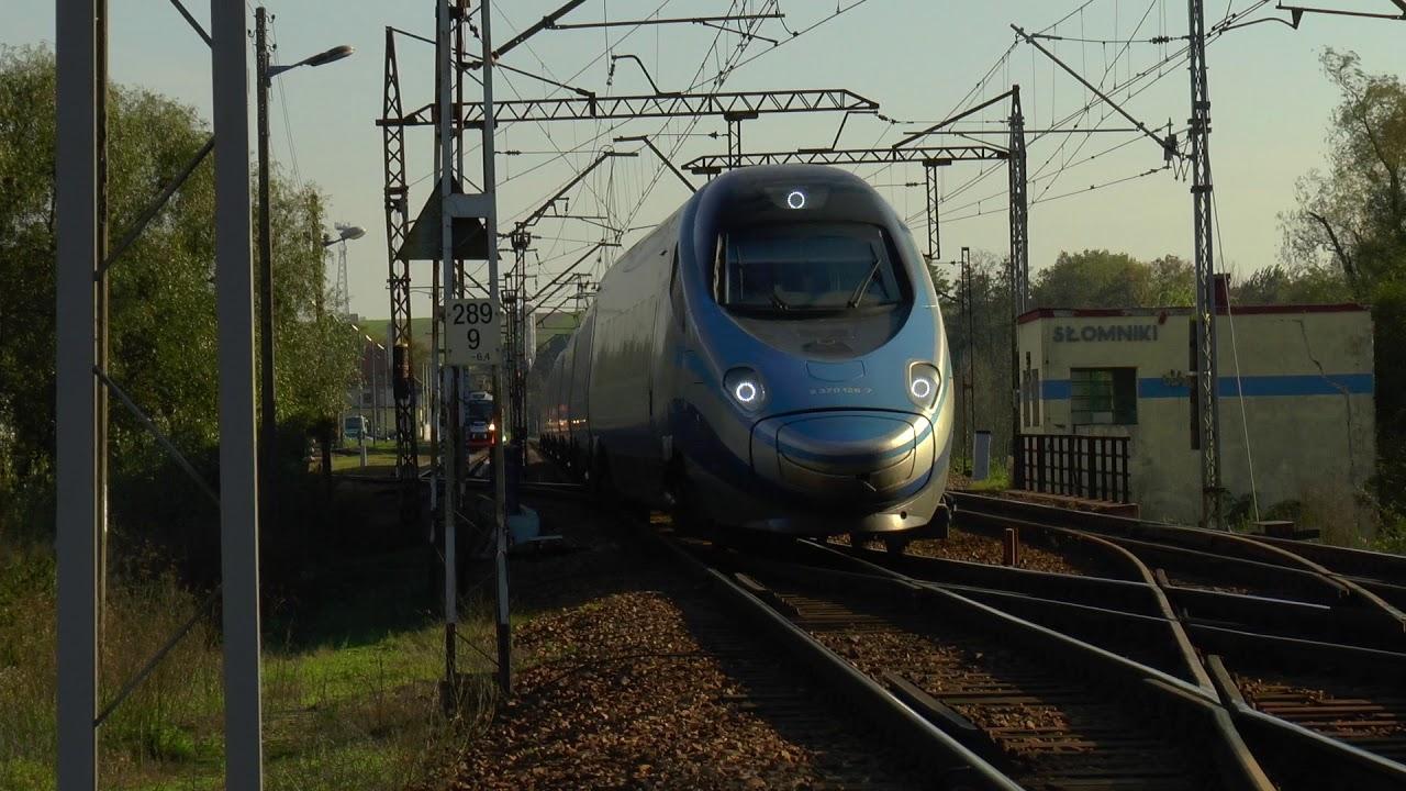 Odjazd Pendolino ze Słomnik