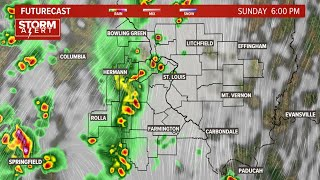 Live radar: Severe thunderstorm watch until 8 p.m. in St. Louis area Sunday