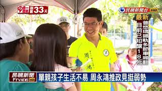 2018九合一-出身單親力爭上游 周永鴻推政策助弱勢-民視新聞