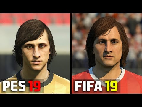 FIFA 19 ICONS Vs PES 2019 LEGENDS | Player Face Comparison