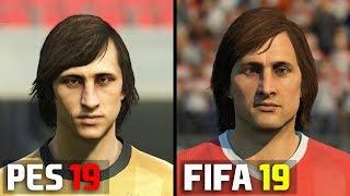 FIFA 19 ICONS vs PES 2019 LEGENDS   Player Face Comparison