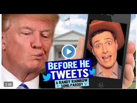 donald trump : before he tweet