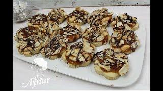 Snickers Kurabiyesi I Karamelli fistikli kurabiye I Karamellkekse mit Erdnuss