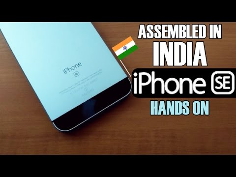 """Apple iPhone SE """"Assembled in India"""" Unit 2017 
