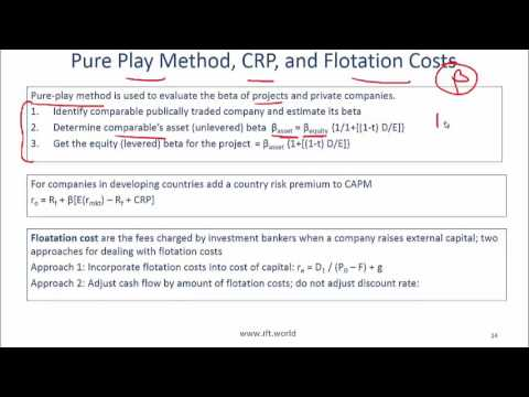 2017 Level I CFA Corporate Finance: Cost of Capital Summary