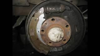 Замена задних колодок VW POLO