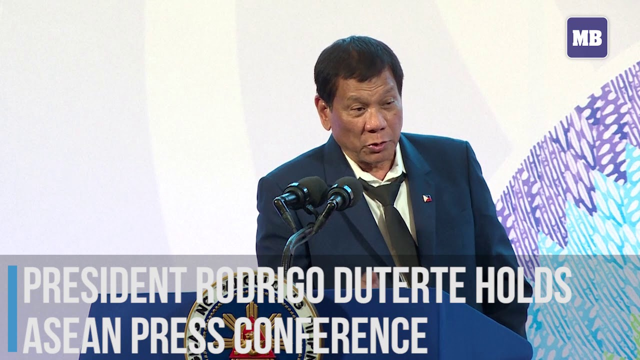 President Rodrigo Duterte holds ASEAN press conference