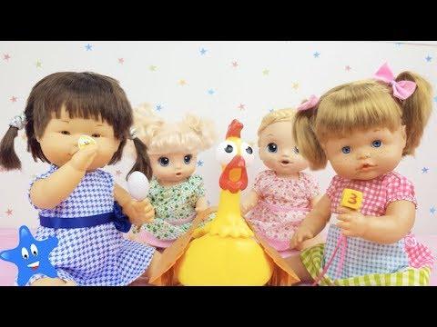 Ani y Ona juegan a la Gallina Josefina con Mara y Tamara