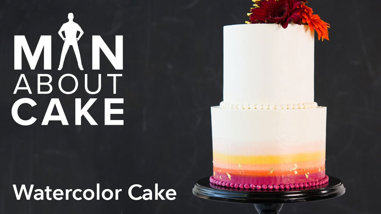Man About Watercolor Buttercream Cakes