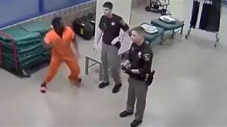 Inmate Punches Correctional Officer Square In The Face