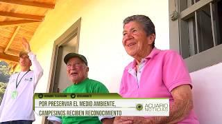 Por preservar el medio ambiente, campesinos reciben reconocimiento
