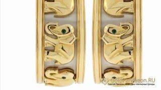 Золотые серьги «Прогулка слонов» с изумрудами Cartier 648042(, 2015-04-28T13:32:48.000Z)