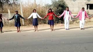 Human chain in Bihar