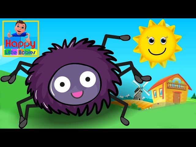 Incy Wincy Spider Nursery Rhyme With Lyrics - Cartoon Animation Rhymes & Songs for Children   HLB !