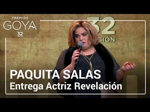 Paquita Salas entrega el Goya a Actriz Revelación | #Goya2018