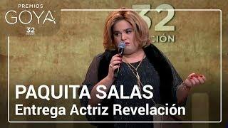 Paquita-Salas-entrega-el-Goya-a-Actriz-Revelación-Goya2018