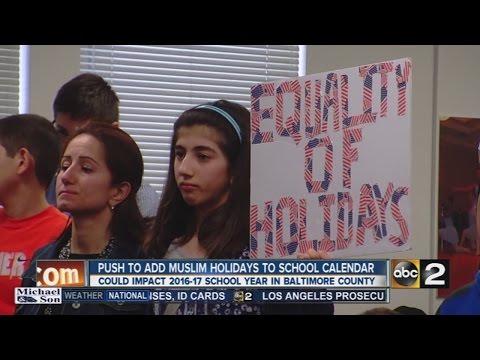 Islamic Community Pushes To Add Muslim Holidays To School Calendar