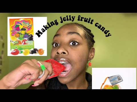 MAKING JELLY FRUIT CANDY *CHAOS*