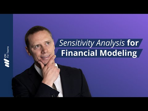 Sensitivity Analysis for Financial Modeling Course