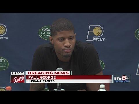 WATCH: Paul George speaks to media