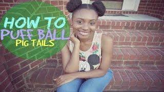 Puff Ball Pig Buns Tutorial