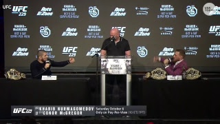 UFC holds press conference ahead of McGregor and Khabib fight