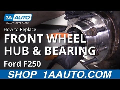 How to Replace Front Wheel Hub Bearing 11-16 Ford F250