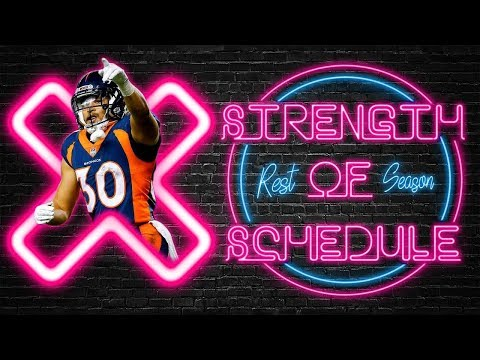 2019 Fantasy Football Playoffs - Rest Of Season Strength Of Schedule