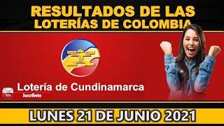 Resultados Lotería de Cundinamarca Lunes 21 de junio 2021| PREMIO MAYOR ✅🥇🔥💰