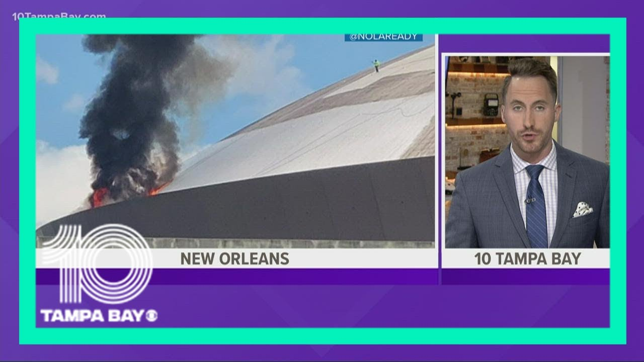One person injured in roof fire at New Orleans' Caesars Superdome