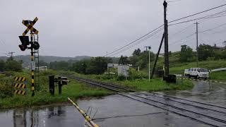 JR北海道宗谷本線観光列車 風っこそうや2号音威子府行き 宗谷本線勇知~兜沼間通過(汽笛吹鳴あり)
