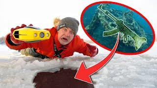 Мы погрузили подводный дрон под лед и увидели эти жуткие военные находки на дне
