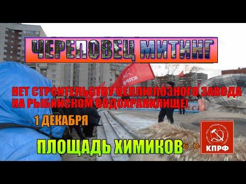 митинг против строительства целлюлозного завода на рыбинском водохранилище ( стопцбк )  череповец