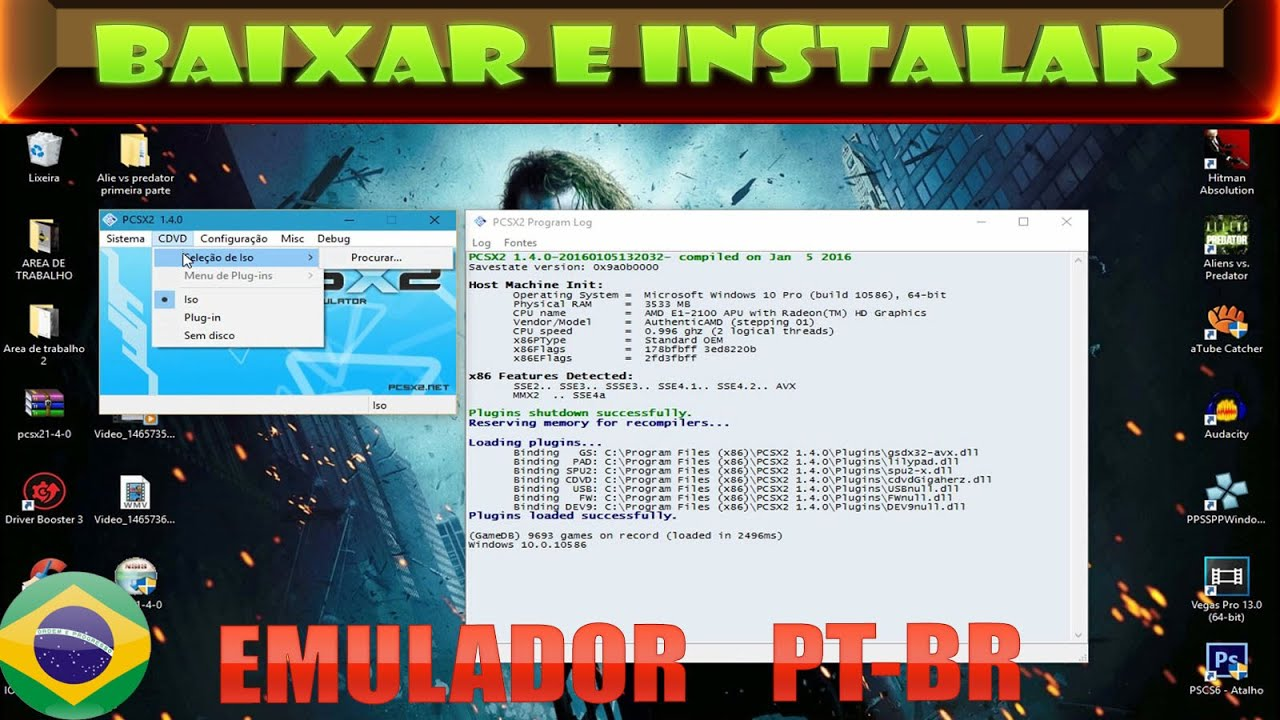 PARA BIOS PCSX2 BAIXAR 1.0.0 E PLUGINS