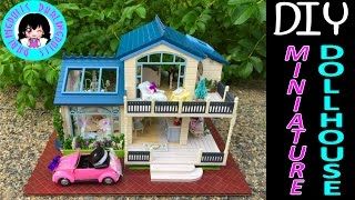 DIY Miniature Doll Honeymoon House~Furnished~with music and lights, car, swing!ミニチュアドールハウス 소형 인형의 집
