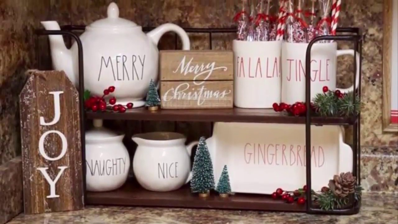 Kitchen Christmas Decorating and Coffee Bar Ideas - YouTube